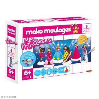 Coffret moulages en plâtre - Mes princesses - Mako moulages - 6 moules