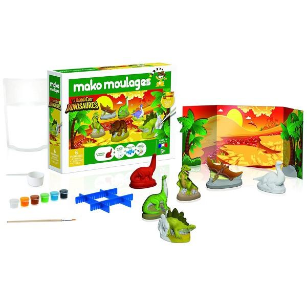 Coffret moulages en plâtre - Le monde des dinosaures - Mako moulages - 6 moules - Photo n°2