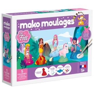 Coffret moulages en plâtre - Mes fées - Mako moulages - 5 moules