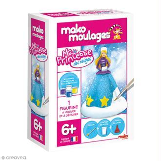 Coffret moulage en plâtre - Ma princesse des neiges - Mako moulages - 1 moule