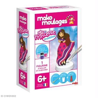 Coffret moulage en plâtre - Ma princesse andalouse - Mako moulages - 1 moule