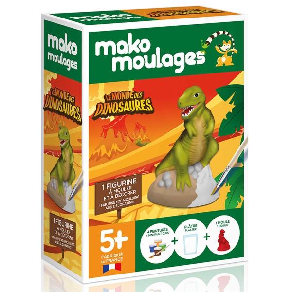 Coffret moulage en plâtre - Le monde des dinosaures - Tyrannosaure - Mako moulages - 1 moule - Photo n°1
