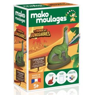 Coffret moulage en plâtre - Le monde des dinosaures - Diplodocus - Mako moulages - 1 moule