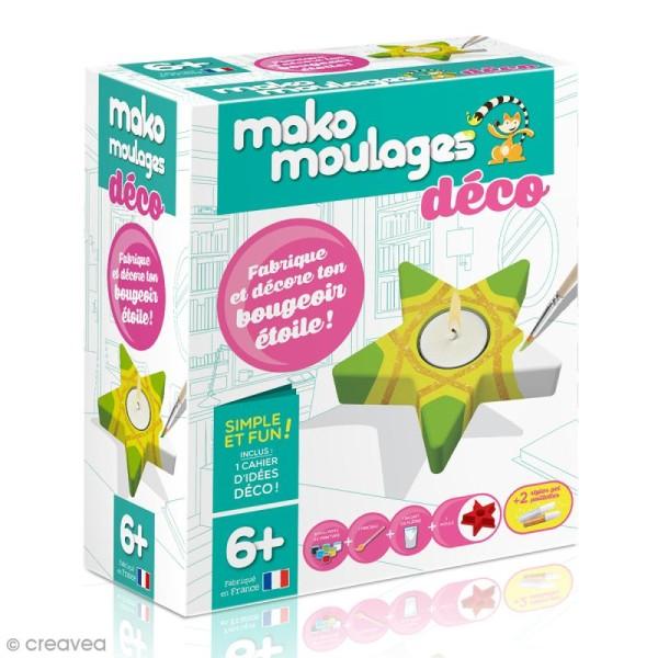 Coffret moulage en plâtre - Mon bougeoir étoile - Mako moulages déco - 1 moule - Photo n°1