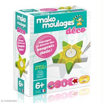 Coffret moulage en plâtre - Mon bougeoir étoile - Mako moulages déco - 1 moule