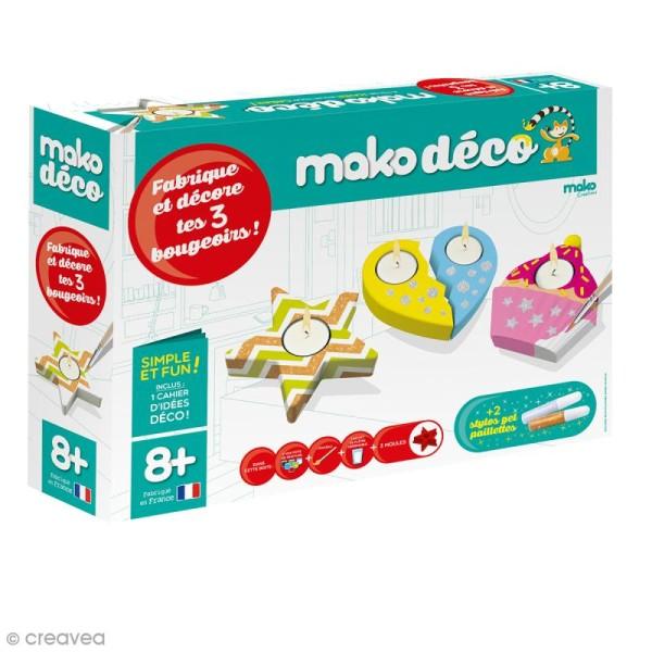Coffret moulages en plâtre - 3 bougeoirs - Mako déco - 3 moules - Photo n°1