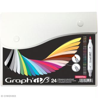 Graph'it Brush & Extra Fine - Essential - 24 marqueurs