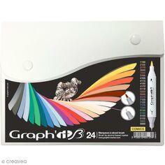 Graph'it Brush & Extra Fine - Comics - 24 marqueurs