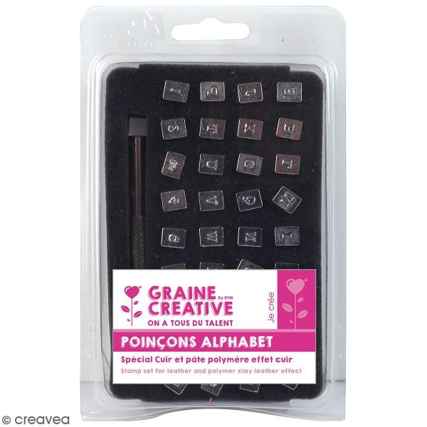 Set tampons alphabet pour pâte polymère - 36 pcs - Photo n°1