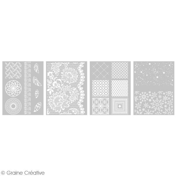 Pochoir pour impression de motifs sur pâte polymère - Déco - 12 x 21 cm - Photo n°2