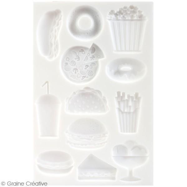 Moule en silicone Junk Food - 20 x 13 cm - 12 formes - Photo n°2