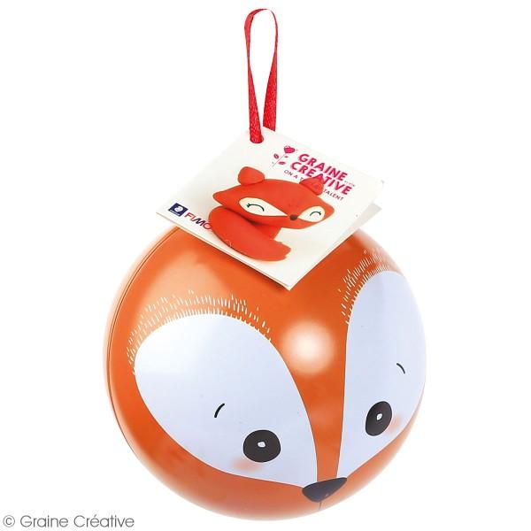 Kit Fimo Boule de Noël métallique - Renard - 4 pcs - Photo n°3