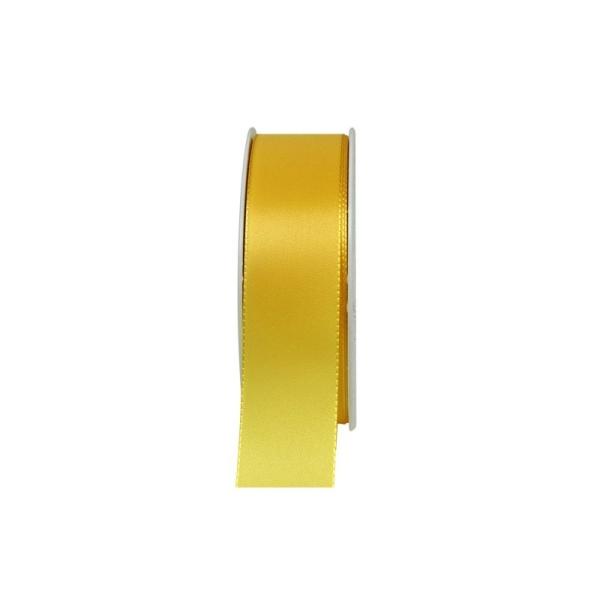 Ruban en Satin simple face, Jaune, largeur 40 mm, longueur 29 m, rouleau décoratif - Photo n°2