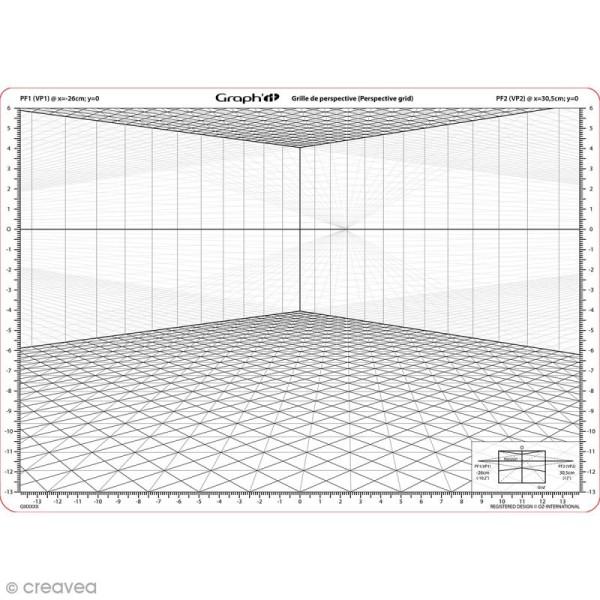 Grille de perspective Graph'it - A - A4 - Photo n°1