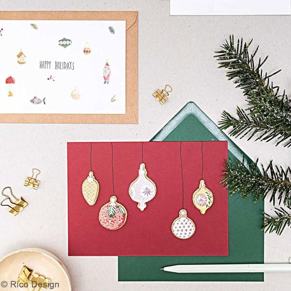 Stickers 3D - Décorations de Noël classique - 9 pcs - Photo n°2