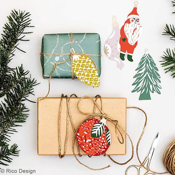 Pendentifs en papier Nostalgic Christmas - Noël classique - de 4 à 8 cm - 8 pcs - Photo n°3
