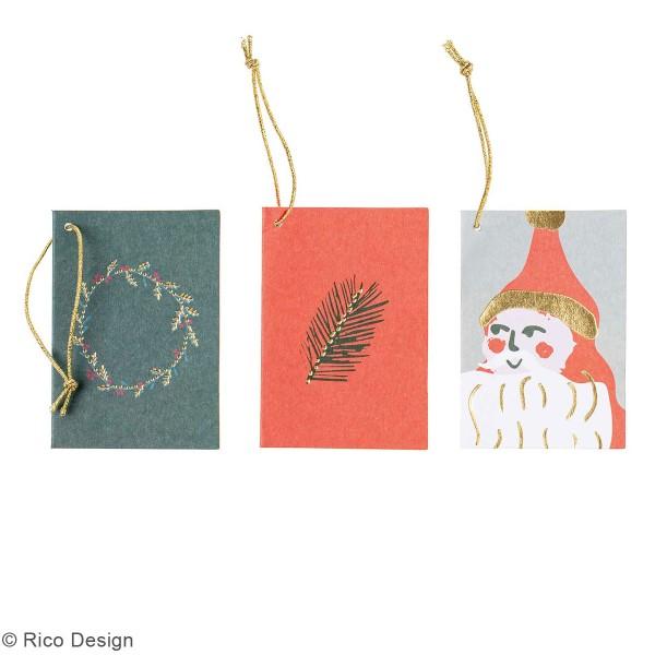 Pendentifs cartes Nostalgic Christmas - Noël classique - 5,2 x 7,5 cm - 6 pcs - Photo n°2