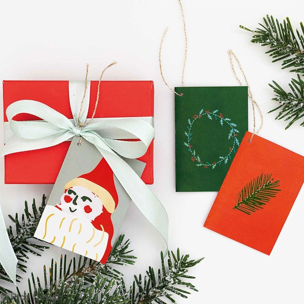 Pendentifs cartes Nostalgic Christmas - Noël classique - 5,2 x 7,5 cm - 6 pcs - Photo n°3