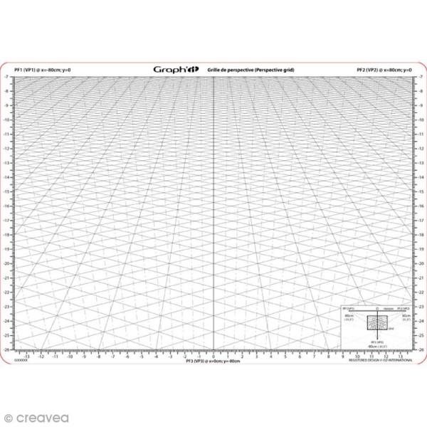 Grille de perspective Graph'it - B - A4 - Photo n°1