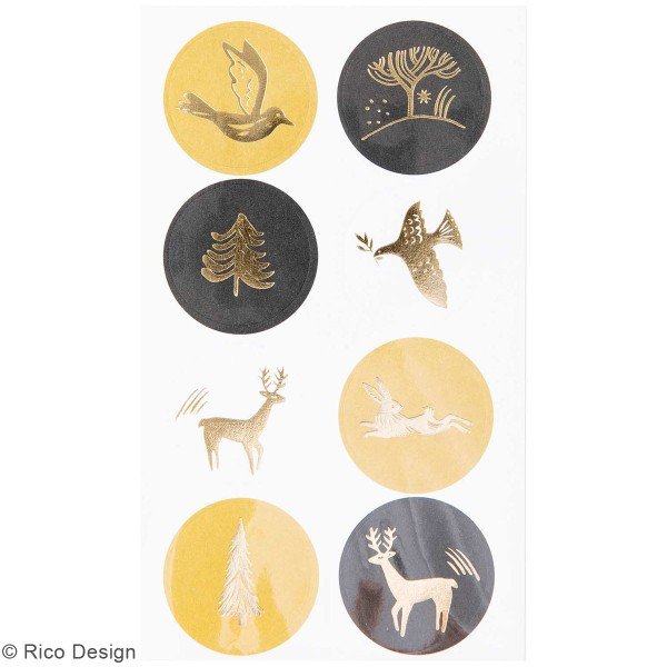Stickers en papier Nostalgic Christmas - Blanc -74 pcs - Photo n°2