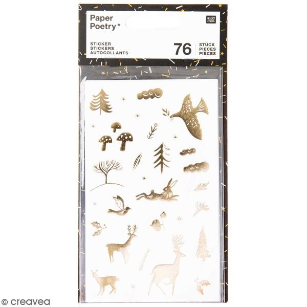 Stickers en papier Nostalgic Christmas - Blanc -74 pcs - Photo n°1