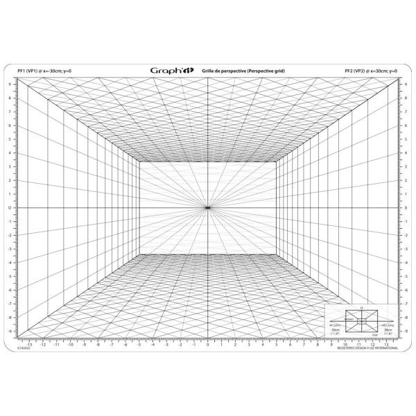 Grille de perspective Graph'it - Perspective frontale - 28 x 19 cm - Photo n°3