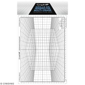 Grille de perspective Graph'it - Cube oblique - 28 x 19 cm