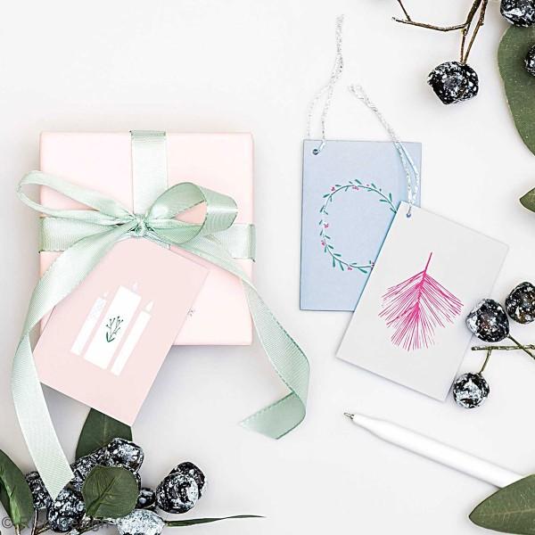 Pendentifs cartes Nostalgic Christmas - Pastel - 5,2 x 7,5 cm - 6 pcs - Photo n°3
