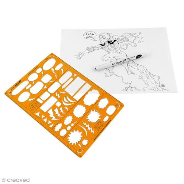 Gabarit trace bulles manga et comics Graph'it - A - Photo n°2