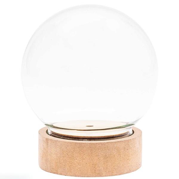 Cloche en verre avec socle - 10 x 12,5 cm - Photo n°1