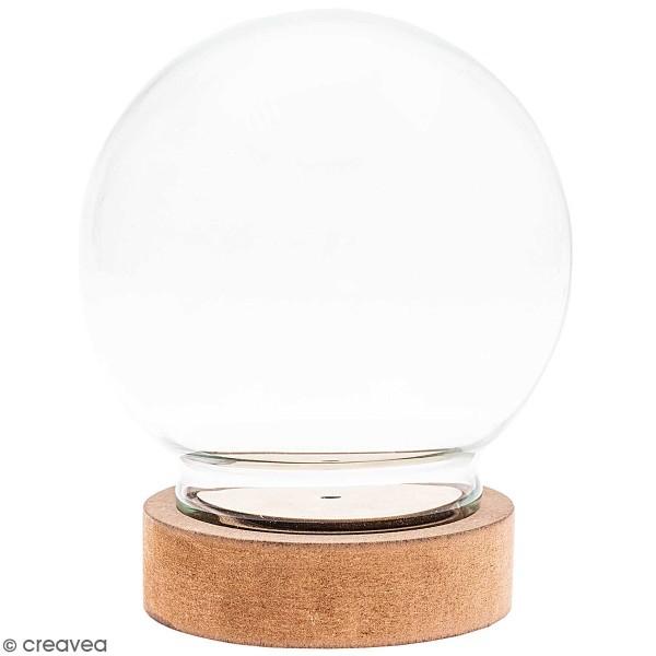 Cloche en verre ronde avec socle - 13 x 15 cm - Photo n°1
