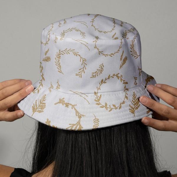 Tissu Rico - Couronnes dorées - Fond blanc - Coton - Par 10 cm (sur mesure) - Photo n°2