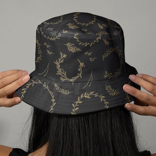 Tissu Rico - Couronnes dorées - Fond noir - Coton - Par 10 cm (sur mesure) - Photo n°2