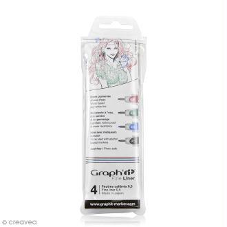 Pochette de 4 feutres fins basiques - Graph'it Fine Liner