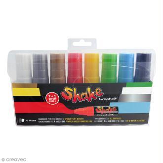 Graph'it Shake - Couleurs basiques - 8 marqueurs XL (7+1 offert)