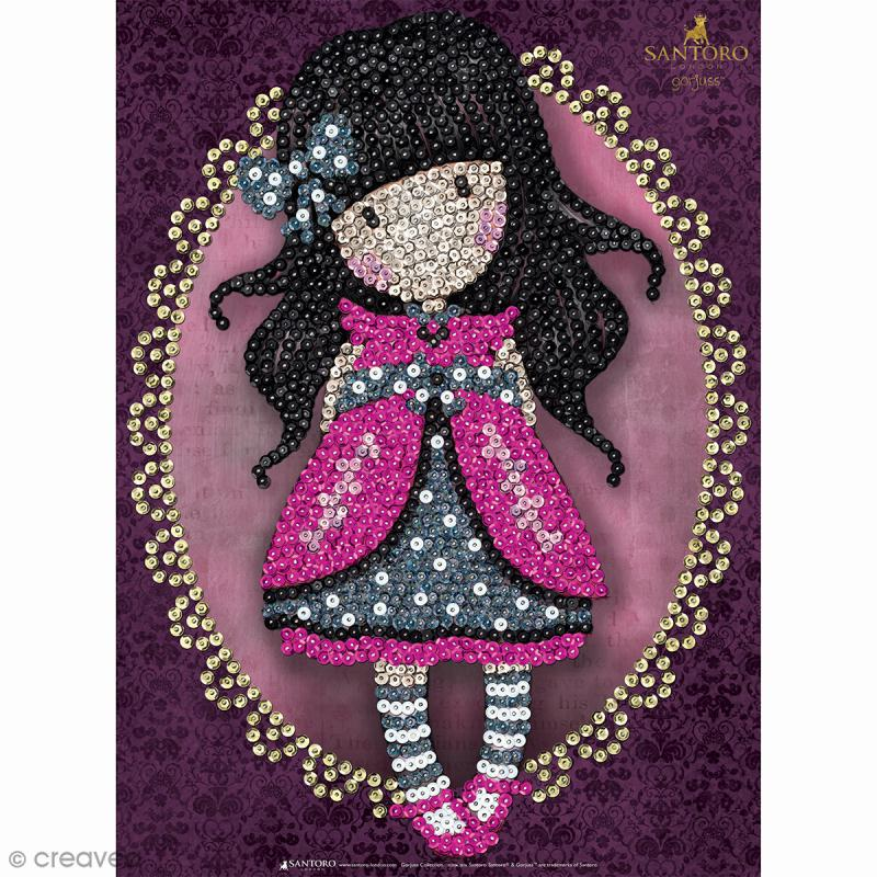 Sequin art gorjuss ladybird tableau 25 x 34 cm for Tableau en sequin