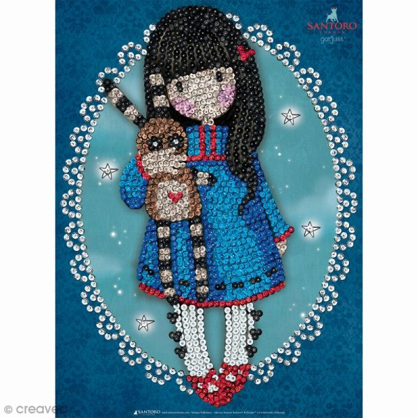 Sequin Art - Gorjuss Hush Little Bunny - Tableau 25 x 34 cm - Photo n°1