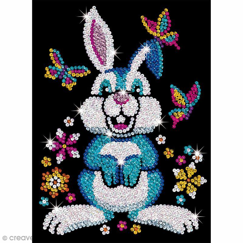 Sequin Art Junior - Lapin Binky - Tableau 25 x 34 cm - Photo n°2