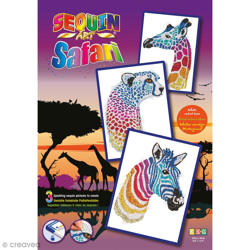 Sequin Art - Safari - Tableau 25 x 34 cm - 3 pcs - Photo n°6