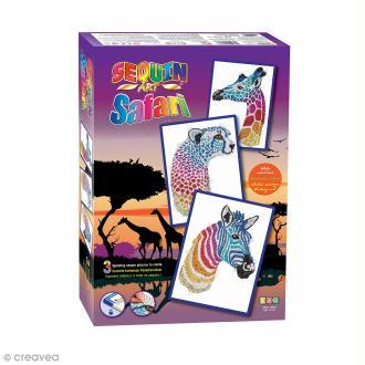 Sequin Art - Safari - Tableau 25 x 34 cm - 3 pcs