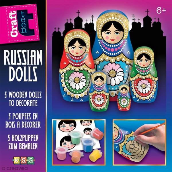 FEUILLE 3D MATRIOCHKAS POUPEES RUSSES CARTES 3D PAPER RUSSIAN DOLLS DECOUPAGE