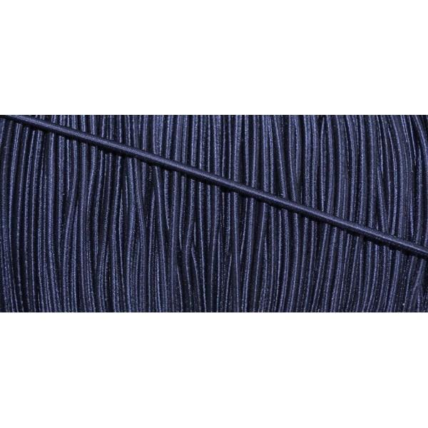 Cordon élastique rond marine 3.5mm - Photo n°1