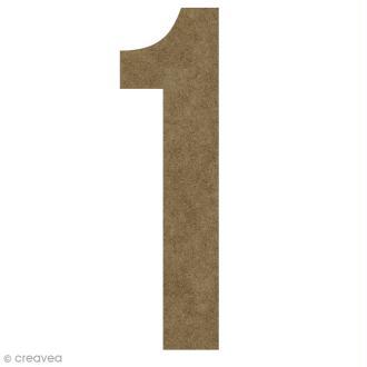 Chiffre en bois à décorer 1 - 50 cm