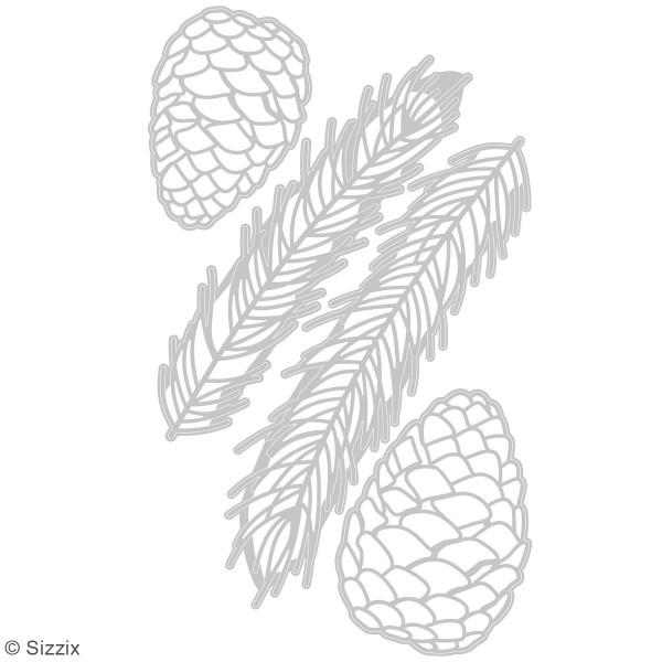 Set de matrices Sizzix Thinlits - Branche de pin - 4 pcs - Photo n°2