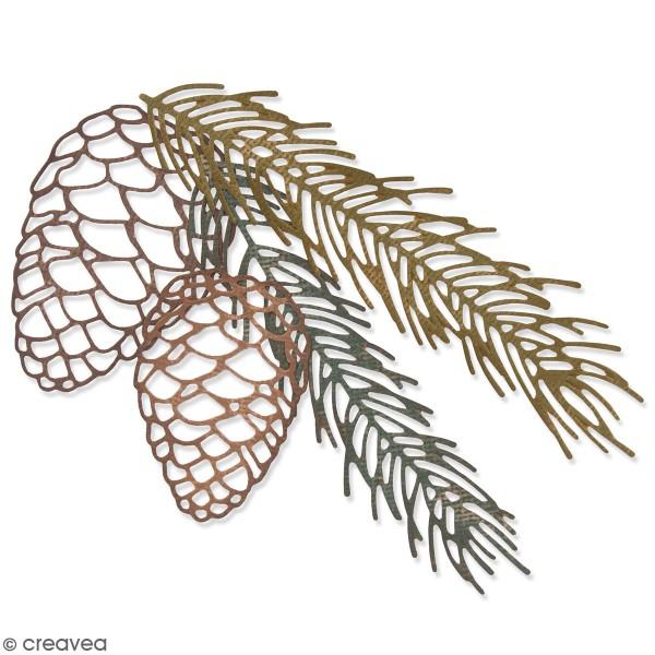Set de matrices Sizzix Thinlits - Branche de pin - 4 pcs - Photo n°1