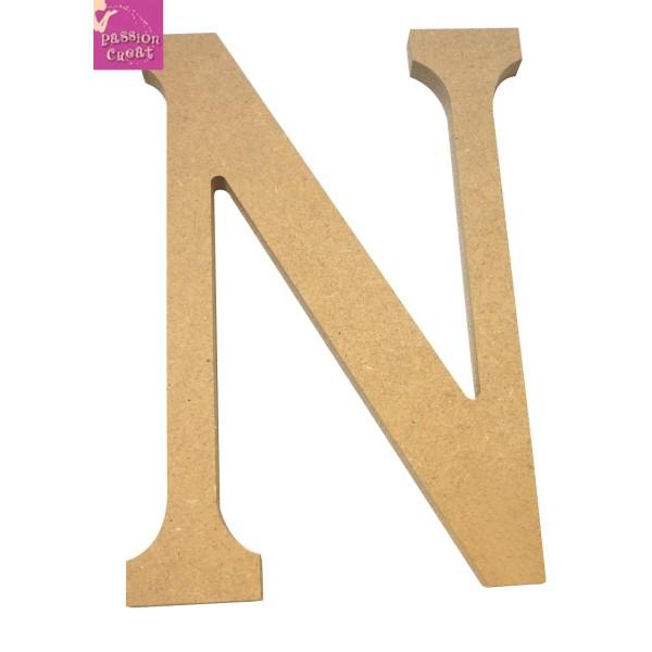 Artemio 11,5 cm Bois Lettre N en majuscules de couleur Beige