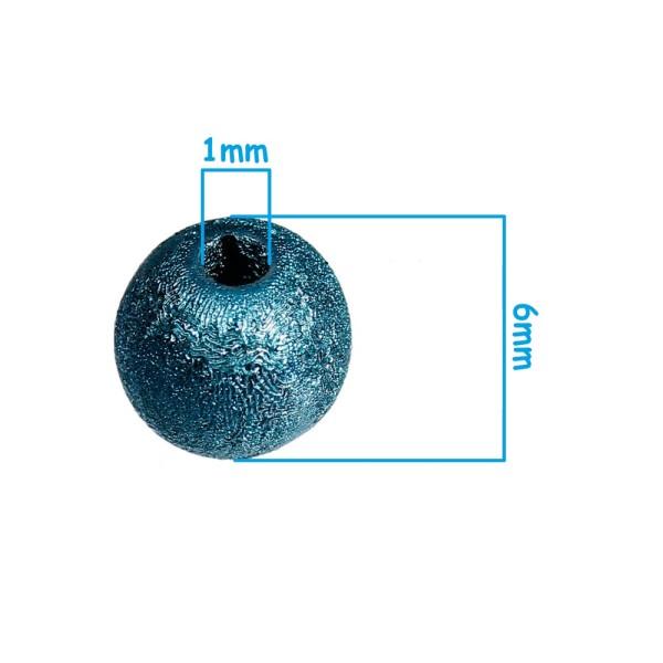 20 Perle Stardust 6mm Mixte Creation Bijoux, bracelet. - Photo n°2