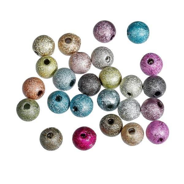 20 Perle Stardust 6mm Mixte Creation Bijoux, bracelet. - Photo n°3