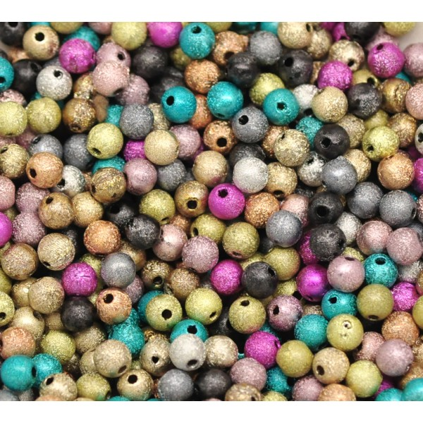 20 Perle Stardust 6mm Mixte Creation Bijoux, bracelet. - Photo n°4