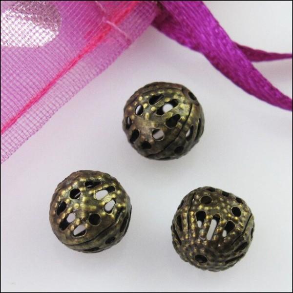 couleur métal lot de 80 perle en forme de cœur aspect métal matière ??